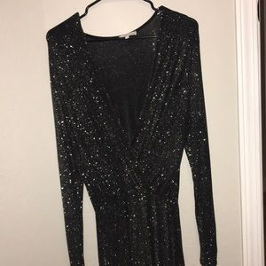 Sparkly long sleeve romper